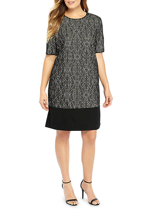 THE LIMITED Plus Size Lace Stripe Sheath Dress