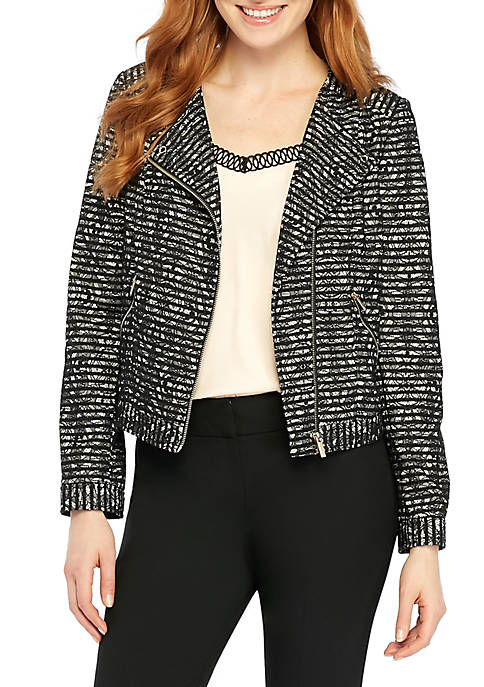 THE LIMITED Lace Stripe Moto Jacket