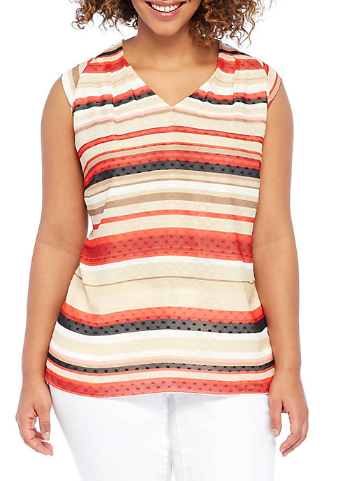 THE LIMITED Plus Size Sleeveless V-Neck Shell