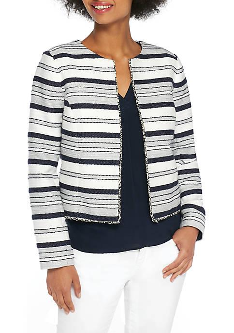 Petite Textured Stripe Jacket