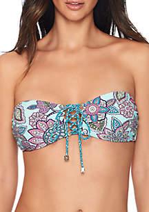 Vera Bradley Desert Floral Reversible Bandeau Swim Top