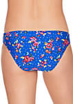 Blue Water Bouquet Reversible Hipster Swim Bottoms