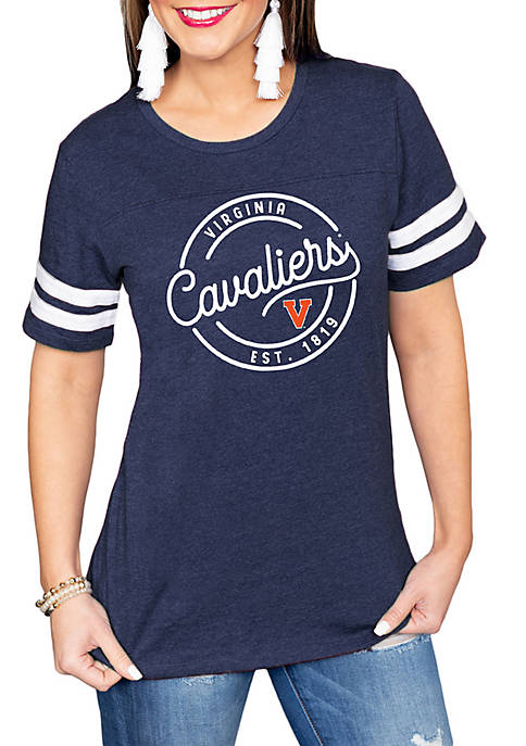 Gameday Couture UVA Striped Sleeve Tee