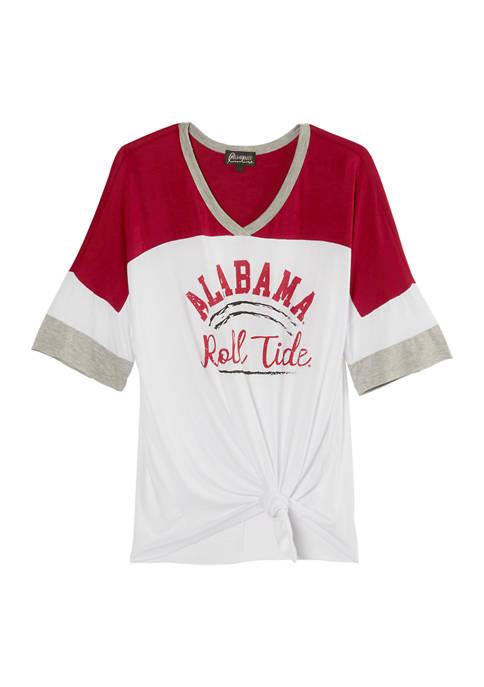 NCAA Alabama Crimson Tide Color Block Sleeve T-Shirt