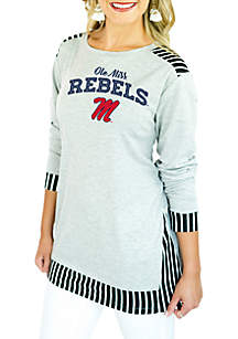 Ole Miss Skip the Lines Oversized Tunic
