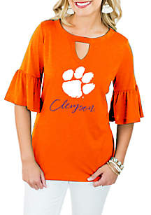 Clemson Tigers Ruffle and Ready Top