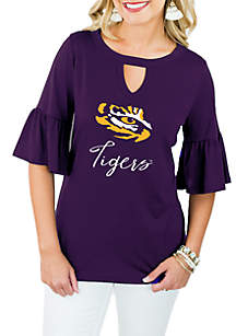 LSU Tigers Ruffle and Ready Top