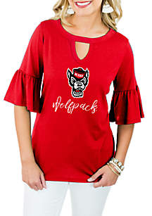 NC State Wolfpack Ruffle and Ready Top