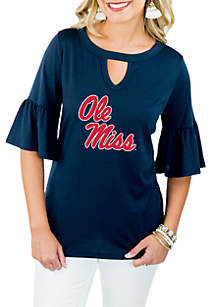 Ole Miss Rebels Ruffle and Ready Top