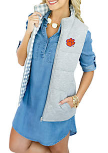 Clemson Tigers 'Hide and Chic' Convertible Reverse Vest