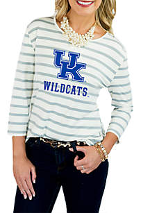 Kentucky Stay A While Striped Peplum Blouse