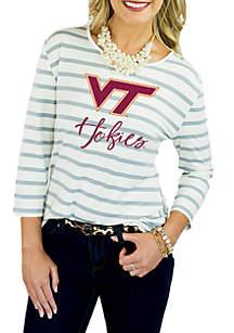 Virginia Tech Hokies Striped Peplum Blouse