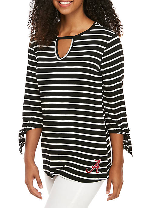 Gameday Couture Alabama Striped Ankle Keyhole 3/4 Sleeve