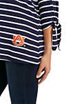 Womens NCAA Auburn Tigers At It Again Striped Keyhole Tie Top