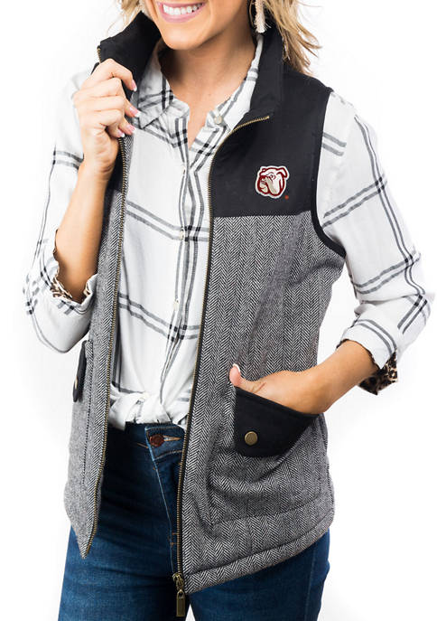 "NCAA Mississippi State Bulldogs ""Prep For It"" Tweed Knit Vest"