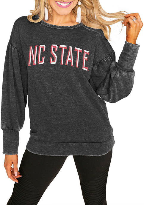 NCAA NC State Wolfpack Puff Sleeve Pullover