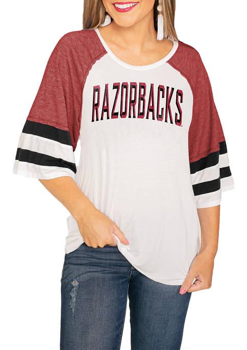 Gameday Couture NCAA Arkansas Razorbacks Sport Raglan Sleeve