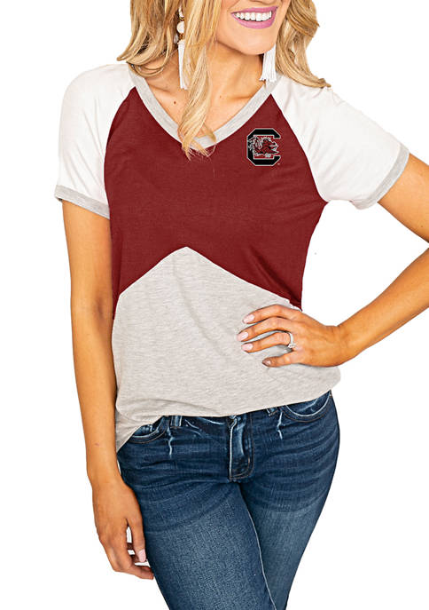Gameday Couture NCAA USC Gamecocks Color Block V-Neck