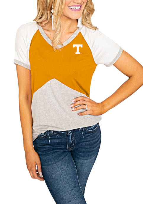 NCAA Tennessee Volunteers Colorblock V-Neck T-Shirt