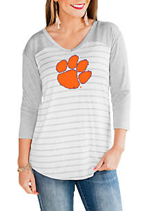 6120fb4ae3 ... Gameday Couture Clemson Tigers V Neck Half Sleeve Top