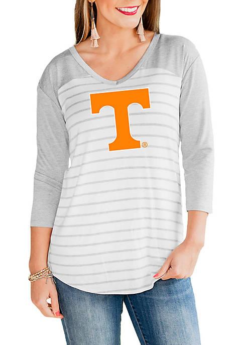 Tennessee Volunteers V Neck Half Sleeve Top