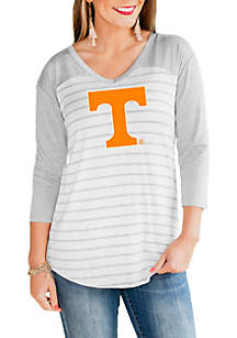 Gameday Couture Tennessee Volunteers V Neck Half Sleeve Top