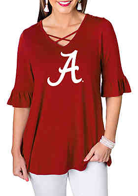 290fa150f Gameday Couture Alabama Crimson Tide Flowy Flutter Sleeve Top ...