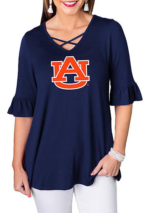 Auburn Tigers Flowy Flutter Sleeve Top