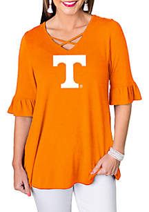 Gameday Couture University of Tennessee Flowy Flutter Sleeve Top