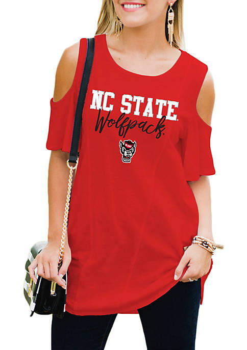 Gameday Couture NC State Wolfpack Easy Breeze Cold-Shoulder