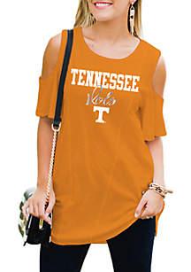 Tennessee Volunteers Easy Breeze Cold-Shoulder Top