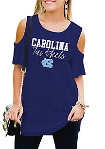 North Carolina Tar Heels Easy Breeze Cold-Shoulder Top