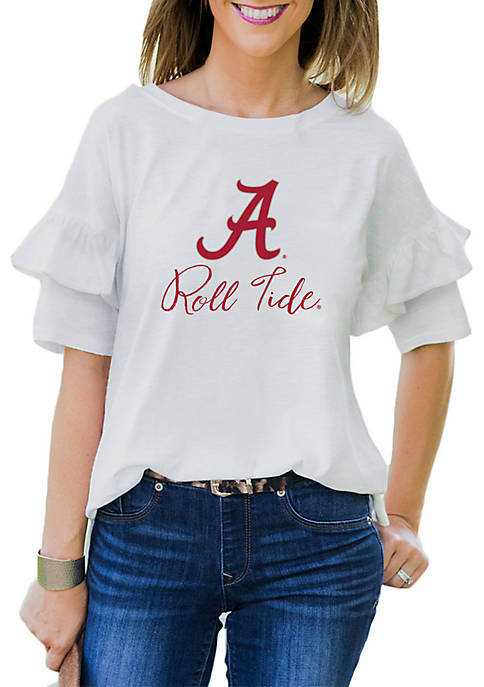 Gameday Couture Alabama Crimson Tide Ruffled Up Tee