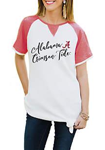 Alabama Crimson Tide Believe It Or Knot Raglan Waffle Tee