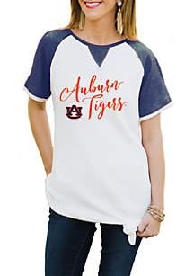 Auburn Tigers Believe It Or Knot Raglan Waffle Tee