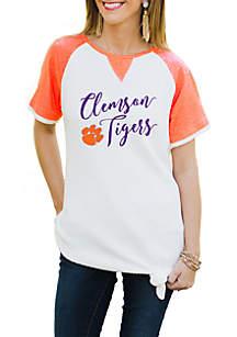 Clemson Tigers Believe It Or Knot Raglan Waffle Tee