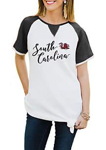 South Carolina Gamecocks Believe It Or Knot Raglan Waffle Tee
