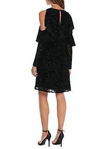 Nanette Lepore Cold Shoulder Velvet Dress