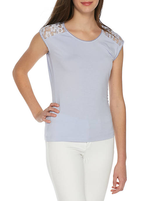 nanette NANETTE LEPORE™ Sleeveless Knit Top with Lace