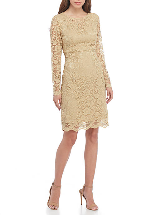 nanette NANETTE LEPORE™ Long Sleeve Lace Shift Dress