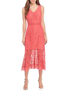 Sleeveless V-Neck Sheath Dress