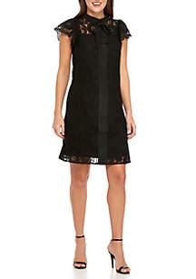 Lace Black Bow Dress
