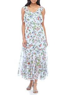 Clearance Maxi Dresses Floral Long Sleeve Off The
