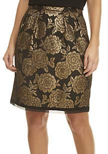 Brena Floral Jacquard Skirt