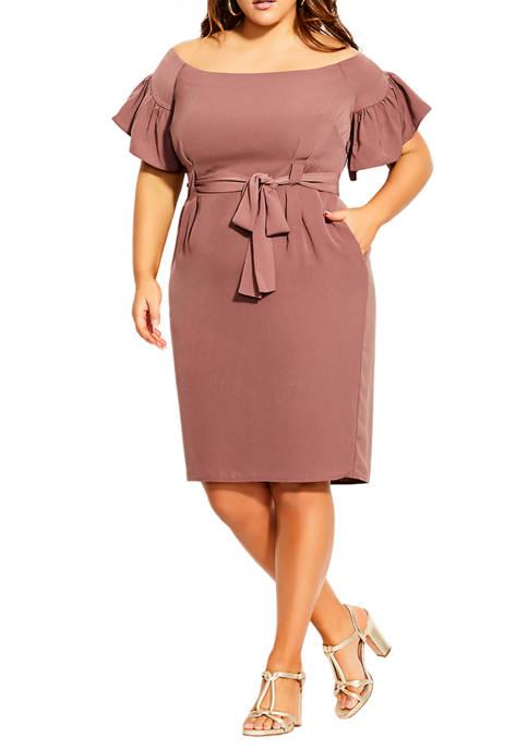 Plus Size Dainty Sleeve Dress