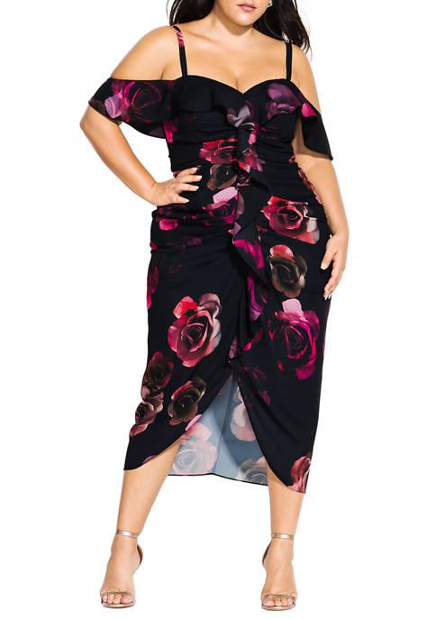 Plus Size Decadent Floral Dress