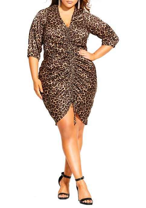 City Chic Plus Size Animal Sense Dress