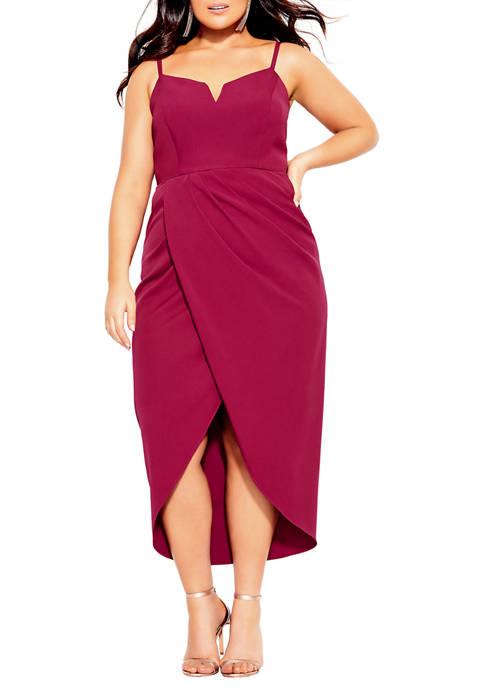 Plus Size Sassy V-Neck Dress