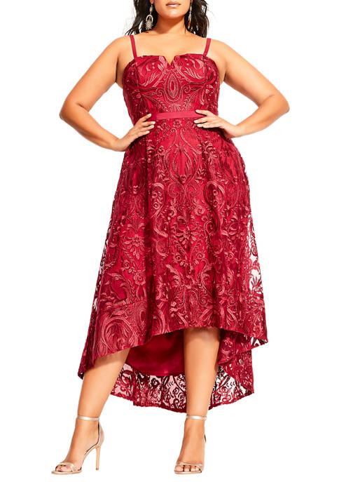 City Chic Plus Size Embroidery Attraction Dress