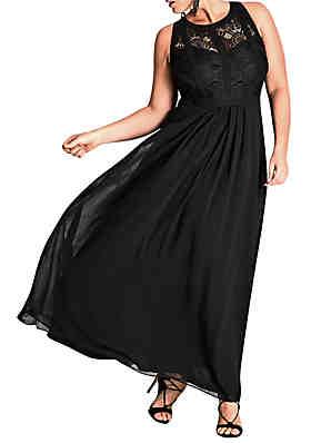 4d27ce3ba80c City Chic Plus Size Maxi Paneled Bodice Dress ...